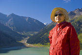 Old women in mountain — Stock Photo