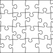 Transparent vector puzzle - Stock Vector