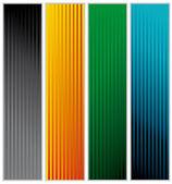 Stripe banners — Stock Vector