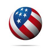 USA Flag Sphere — Stock Vector