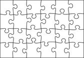 Transparent vector puzzle — Vector de stock