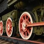 Locomotive wheels — Stock Photo #3646856