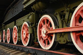 Locomotive wheels — Stock Photo