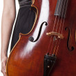Violoncello playing — Stock Photo