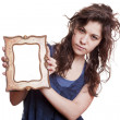 Womholding picture frame — Stock Photo #2921829