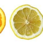 Three fruits: Orange, Lemon, Kiwi — Stock Photo #2927000