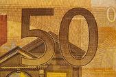 Detalle de 50 euros — Foto de Stock