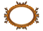 Retro Revival Old Ellipse Frame — Stock Photo
