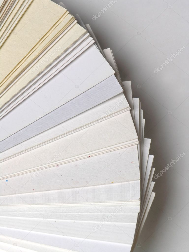 Paper samples for business cards — Stock Photo © adam_r #2926708