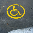 Stock Photo: Wheelchair Symbol