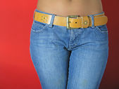 Girl in jeans — Stock Photo
