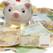 Euro piggy bank — Stock Photo