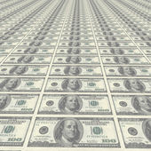 Endless rows of money — Stock Photo