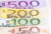 Euro Money Macro — Stock Photo
