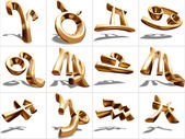 3D Zodiac Sign — Stock Photo