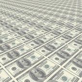 Endless rows of money - dollar — Stock Photo