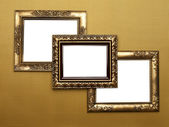Three Old Picture Frames — Stock Photo