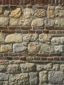 Rock and Brick Wall — Stock Photo
