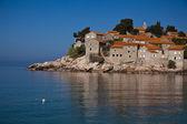 Isola di penisola sveti stefan, montenegro — Foto Stock