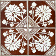Stock Photo: Portuguese glazed tiles 006