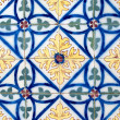 Stock Photo: Portuguese glazed tiles 014
