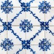 Stock Photo: Portuguese glazed tiles 037