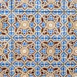 Stock Photo: Portuguese glazed tiles 035