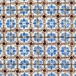 Stock Photo: Portuguese glazed tiles 034