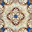 Stock Photo: Portuguese glazed tiles 031