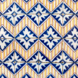 Stock Photo: Portuguese glazed tiles 030