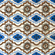 Stock Photo: Portuguese glazed tiles 017