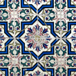 Stock Photo: Portuguese glazed tiles 016