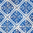 Stock Photo: Portuguese glazed tiles 013