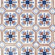 Stock Photo: Portuguese glazed tiles 010