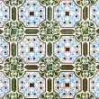 Stock Photo: Portuguese glazed tiles 042
