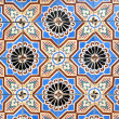 Stock Photo: Portuguese glazed tiles 043