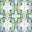 Stock Photo: Portuguese glazed tiles 044