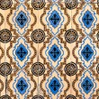Stock Photo: Portuguese glazed tiles 045