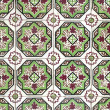 Stock Photo: Portuguese glazed tiles 046