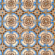 Stock Photo: Portuguese glazed tiles 054