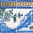 Stock Photo: Portuguese glazed tiles 056