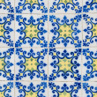 Portuguese glazed tiles 154 - Stock Photo