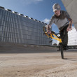 Stock Photo: Bmx training