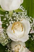 White roses bouquet — Stock Photo