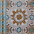 Traditional Portuguese glazed tiles - Photo