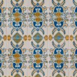 Traditional Portuguese glazed tiles - Zdjcie stockowe