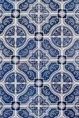 Traditional Portuguese glazed tiles — Stock Photo