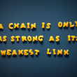 Stock Photo: Chain is only as strong as ist weakest link