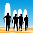 Surf pose - Stock Vector