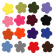 Flower color felt samples - Stock Photo